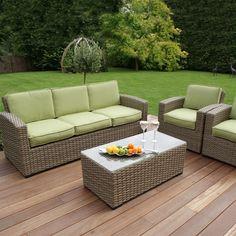 maze rattan natural milan corner sofa set green cushions upholstery service manila 11 best garden furniture images kingston 3 seat