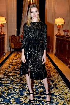 Leading the pack: SupermodelNatalie Vodianova partied the night away at Paris Fashion Week'sNaked Heart and Etam Cocktail cocktail party on March 7, 2017