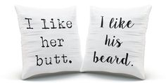 Gifts for couples hipster pillow set Valentines by SassyGalsWisdom