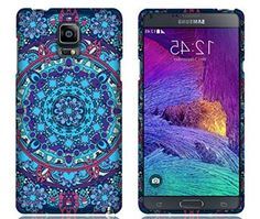 "myLife Sky Blue + Purple + Pink Floral Aztec Circular Art {Cool, Artistic, Vibrant} 2 Piece Snap-On Rubberized Protective Faceplate Case for the Samsung Galaxy Note 4 ""All Ports Accessible"" myLife Brand Products http://www.amazon.com/dp/B00U4DB19M/ref=cm_sw_r_pi_dp_eFyhvb0AF9MJW"