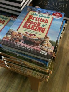 The Great British Book of Baking (Michael Joseph Ltd; part of Penguin – as seen in WH Smith Trowell Motorway Services 7.10.13), to accompany the BBC TV series The Great British Bake Off – it's a disgrace to Penguin, WH Smith and the BBC that this book is made in China.