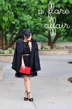 What I Wore: 07.08.12 Tadashi Shoji dress! <3 Curvy Girl Chic - Plus Size Fashion and Style Blog: a flare affair #ootd #plussize #fashion