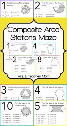 Composite Area Stations Maze - would be great for an end of unit review or before standardized testing