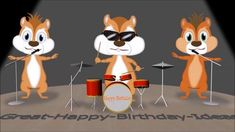 """🎁 Funny birthday greetings video animation, were cartoon Mouse singing Happy Birthday to you and funny dance. Share the short birthday video greetings from """". Happy Birthday Song Youtube, Singing Birthday Cards, Birthday Wishes Songs, Birthday Songs Video, Funny Happy Birthday Song, Happy Birthday Husband, Happy Birthday Video, Happy Birthday Flower, Happy Birthday Pictures"""