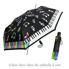 Cool Umbrellas, Floral Umbrellas, Umbrellas Parasols, Music Teacher Gifts, Teacher Christmas Gifts, Music Gifts, Music Teachers, Piano Music, Art Music