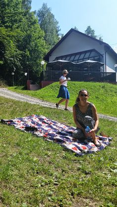 kawka na trawce #zjazdSocjomaniakow Picnic Blanket, Outdoor Blanket, Picnic Quilt