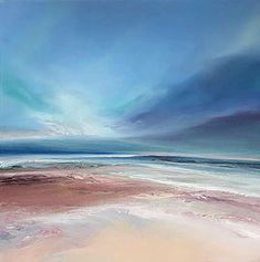 Original fine art gallery by Michael Claxton. Oil and acrylic paintings sitting between realism and abstraction, landscapes of the natural world Seascape Paintings, Landscape Paintings, Tableaux D'inspiration, Sea Art, Diy Canvas Art, Acrylic Art, Fine Art Gallery, Abstract Landscape, Sheffield