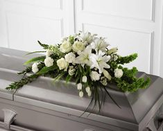 Order The Resurrection™ Casket Spray flower arrangements from All Flowered Up Too, your local Lubbock, TX florist. Send The Resurrection™ Casket Spray floral arrangement throughout Lubbock and surrounding areas. Arte Floral, Deco Floral, Arrangements Funéraires, Funeral Floral Arrangements, Church Flowers, Funeral Flowers, Flowers For Men, Send Flowers, Funeral Caskets