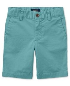 Ralph Lauren Chino Shorts, Toddler Boys (2T-5T) - Green 4/4T