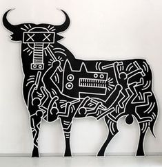 Keith Haring's take on Guernica.