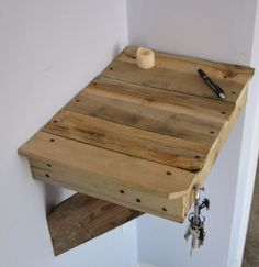 Little pallet shelf would be cool in lieu of nightstands