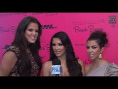 Kourtney, Khloe, and Kim Kardashian at 2011 Miami Swim Week. They discuss their swim line and The Kardashian show.