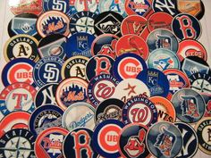to mark teams on US map  100 Baseball Teams 1 inch Paper Round Pre Cut MLB Bottle Cap Images Mix Lot   eBay