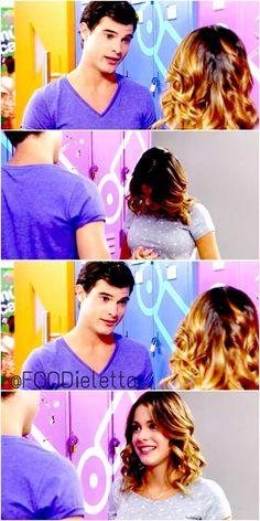 #Dieletta –No parás. –¿Qué? –De decirme... –Eh, Violetta, te lo estoy diciendo de corazón. Eres lo mejor que me ha pasado. Awwwwww!!!