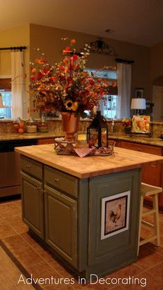 Adventures in Decorating: Fall in the Kitchen!  I love the warm colors.  Feels so cozy!
