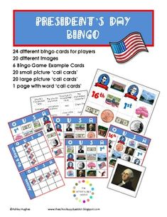 President's Day Bingo {24 cards} - Pinned by @PediaStaff – Please Visit  ht.ly/63sNt for all our pediatric therapy pins