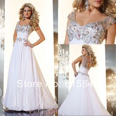 Beautiful White Applique And Beadings Modest Prom Dresses With Sleeves Specional Occasional Dress Long Evening Gowns