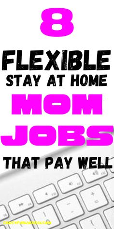 Stay-at-Home Mom Jobs That Pay Really Well I have 8 flexible stay-at-home jobs available to you. at home # earn money online Earn Money From Home, Stay At Home, Work From Home Moms, Way To Make Money, Make Money Online, Online Writing Jobs, Best Online Jobs, Legitimate Work From Home, Flexible Working