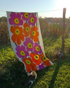Unikko Fabric by Marimekko. Patterns In Nature, Textures Patterns, Picnic Blanket, Outdoor Blanket, Marimekko Fabric, Decoration, Illustrations, Textile Design, Finland