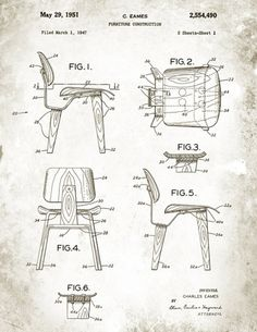 Eames patent drawings