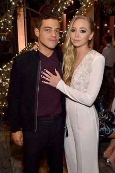 'Mr. Robot' stars Rami Malek (L) and Portia Doubleday attend PEOPLE's Ones To Watch Event on September 16, 2015 in West Hollywood, California.
