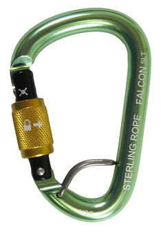 The Falcon SL is a screwgate, compact pear-shaped carabiner. Crafted from high strength 7075-T6 aluminum, the Falcon is strong and lightweight. The compact pear shape is great for belaying or to use with a munter hitch. The Talon feature is a wire gate closure that helps keep the carabiner in proper orientation on your harness.Screwgate carabiners have a barrel that moves vertically on a threaded gate. When closed the barrel creates a secure connection between the carabiner and top of the…