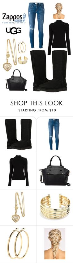 """""""The Icon Perfected: UGG Classic II Contest Entry"""" by annalynn698 ❤ liked on Polyvore featuring UGG Australia, Frame Denim, Misha Nonoo, Pink Haley, Belk Silverworks, Pieces, ugg and contestentry"""