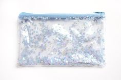 Blue Star Pouch /  Pencil case Transparent wallet Clear by RossMiu