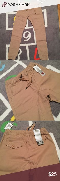 🔥brand new khaki fashion joggers with tags 🔥 brand new with tags never worn khaki slim fit joggers with drawstring waist // no trades Pants Track Pants & Joggers