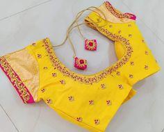 Cotton Saree Blouse Designs, Cutwork Blouse Designs, Simple Blouse Designs, Blouse Neck Designs, Sari Blouse, Dress Designs, Simple Designs, Traditional Blouse Designs, Blouse Designs Catalogue