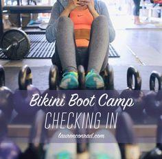 it's bikini boot camp check in time...!