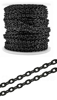 Chains 150069: Cleverdelights Cable Chain Spool - 100 Feet - Dark Black Color - 3X4mm Link -... -> BUY IT NOW ONLY: $34.16 on eBay!