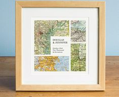 This sweet print makes the perfect unique gift. Choose ANY four cities in the world! We have a vast resource of maps to use, so even small towns are no problem most of the time. ▧ Customization ▧ Leave a note at checkout with the following information: • The names to be featured • The cities to be featured • The significant date • Note the scale of the maps in the photo -- your maps will likely be the same scale, so if your town is small please realize it may look small on the map! ▧ Pape...