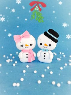 Christmas Ornaments Snowman Soft Toys Felt Christmas by BelkaUA