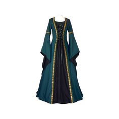 dornbluth.de - mittelalterliche gewandungen (305 CAD) ❤ liked on Polyvore featuring dresses, medieval, costumes, gowns and narnia