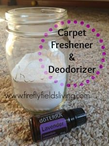 DIY doTERRA Essentials Oils Carpet Freshener and Deodorizer Recipe