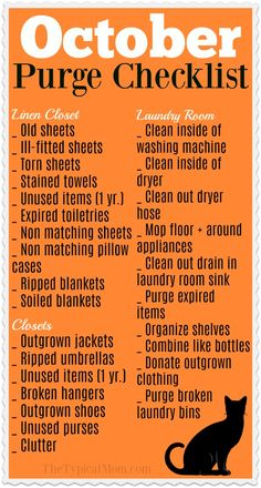 Free printable Fall cleaning checklist for October is here! Focus on just a few . , Free printable Fall cleaning checklist for October is here! Focus on just a few areas at a time so you don't get overwhelmed and purge your house clean. Fall Cleaning Checklist, Deep Cleaning Tips, House Cleaning Tips, Cleaning Solutions, Cleaning Hacks, Cleaning Schedules, Cleaning Lists, Diy Hacks, Speed Cleaning
