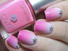 Un anniversaire sous les étoiles pour Venuss ! - Pink gradient nails - star studs - pink nailart