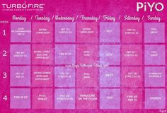 Turbo Fire and Piyo Workout ♡ Hybrid Schedule