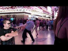 Blow up doll guy vs Bikini Guy - Fremont Street Experience Las Vegas