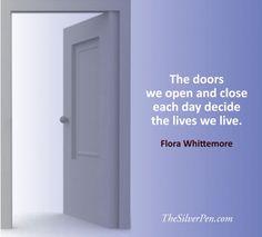 Doors that open, and doors that close...