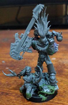Warhammer Figures, Warhammer Paint, Warhammer 40k Miniatures, Warhammer 40000, Fantasy Model, Dark Fantasy, Chaos 40k, Space Wolves, Anime Version