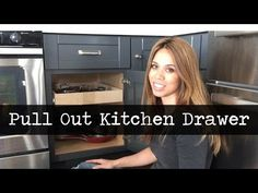 Convert Cabinet Shelves into Pull Out Drawers - YouTube