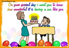 All Wishes Message Card Greeting Birthday Greetings For Son