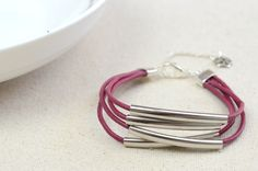 Leather and Bead Bracelet DIY - How To Make A Leather Beaded Bracelet