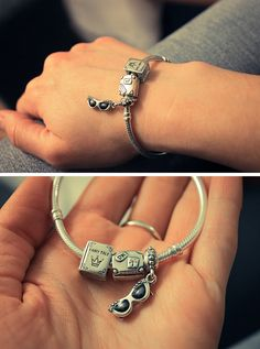 beautiful birthday present / pandora  #fashion #pandora #bracelet #jewelry #silver #girl