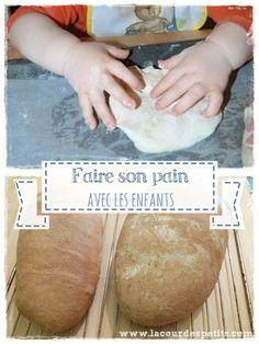 Faire son pain maison sans machine à pain, est assez facile avec une recette simple. Une activité cuisine avec les enfants idéale pour éveiller les sens !