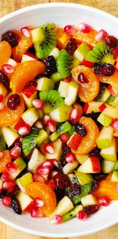 Winter Fruit Salad with Maple-Lime Dressing - healthy, gluten free salad! More