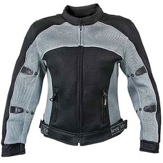 Xelement CF-507 Womens Black/Gray Mesh Armored Jacket