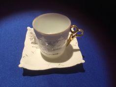 Rare Antique Salem Witch Souvenir Tea Cup with Scissor Handle Cup & Saucer